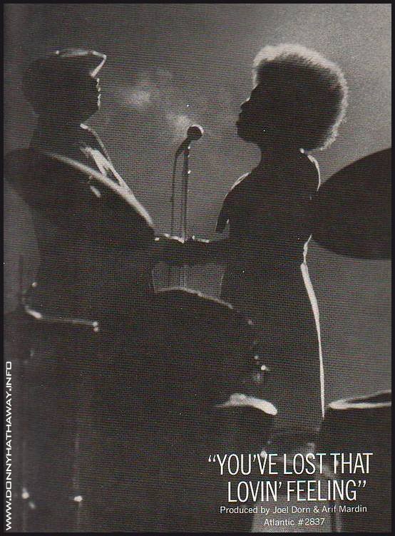 Donny Hathaway + You've lost that loving feeling - advert